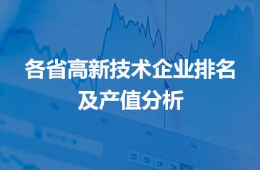 高新技术企业排名及产值分析